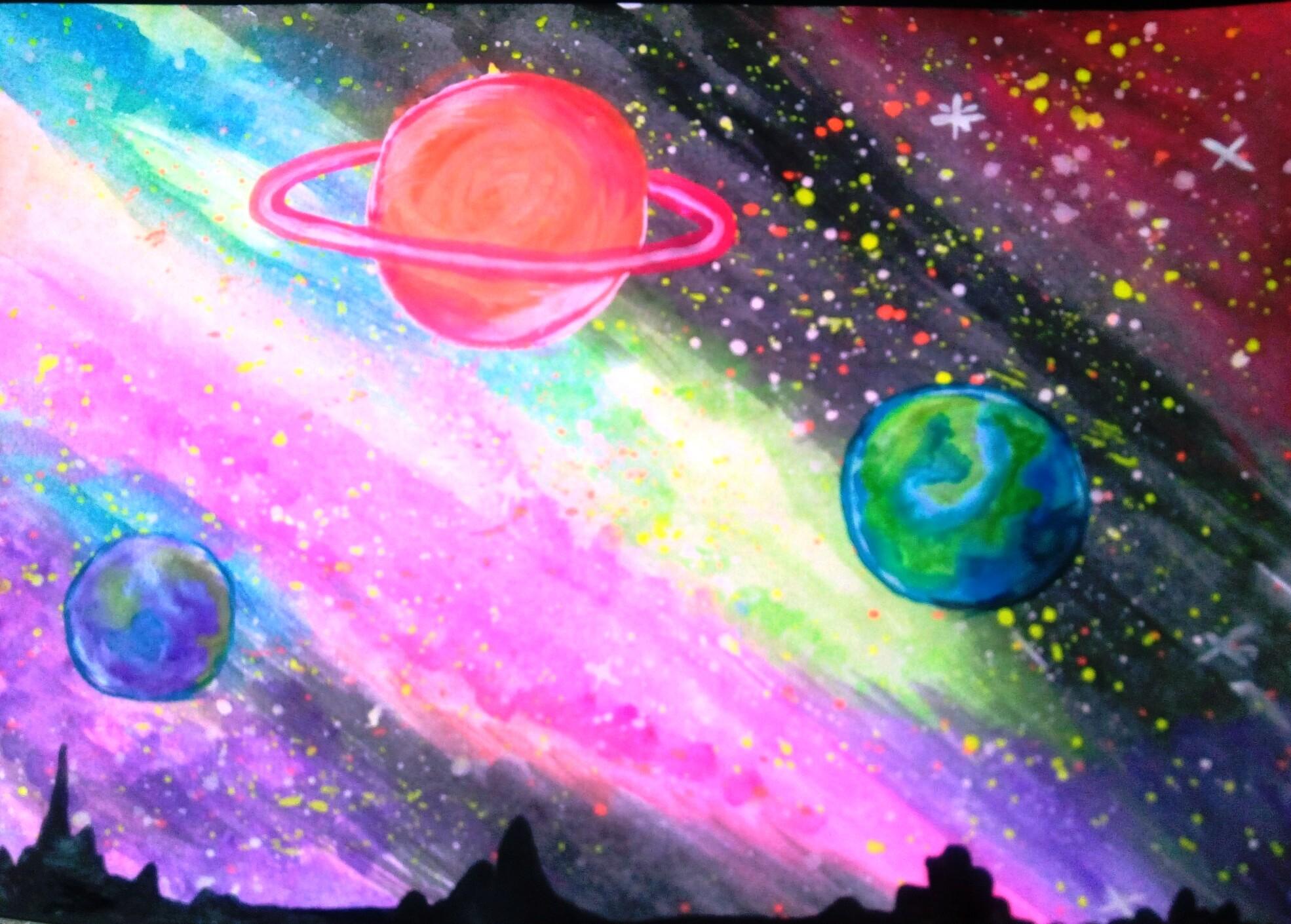 Мужу, много картинки для срисовки космос